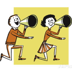 pop-ink-csa-images-male-and-female-cheerleader-with-megaphone